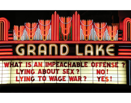 What is an Impeachable Offense? Lying about Sex? No! Lying to Wage War? Yes!