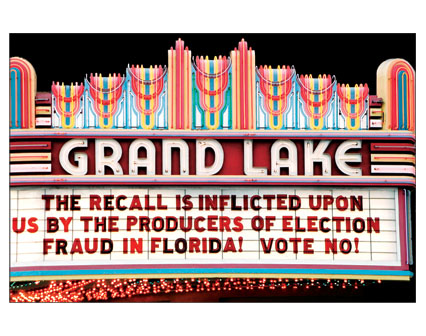 The Recall is inflicted upon us by the producers of Election Fraud in Florida! Vote No!
