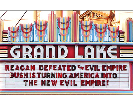 REAGAN DEFEATED THE EVIL EMPIRE BUSH IS TURNING AMERICA INTO THE NEW EVIL EMPIRE!